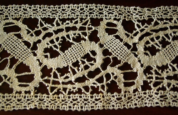 Lot of hand made Russian bobbin lace yardage, 1920s