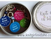 Large Storage Tin for Knitting or Crochet Bags