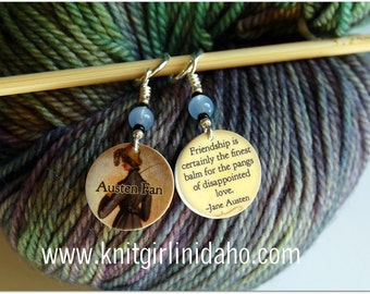 Jane Austen Northanger Abbey Charm Stitch Markers (Set of 2)