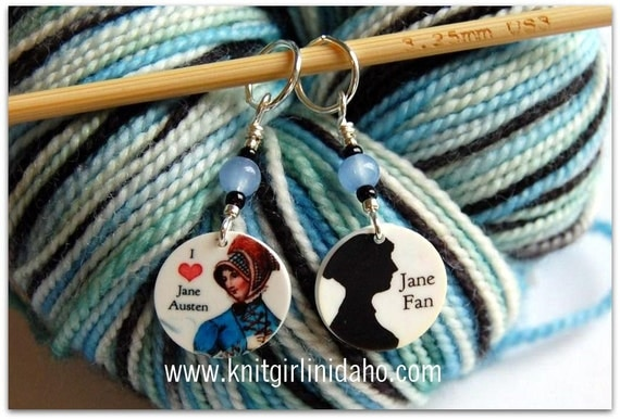 Jane Austen Stitch Markers (Set of 2)