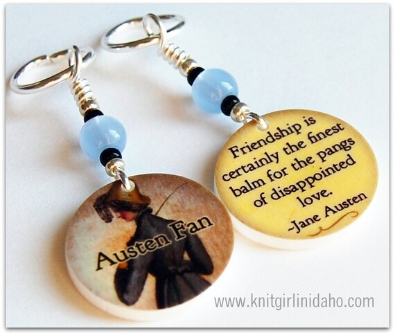 Jane Austen Northanger Abbey Charm Stitch Markers (Set of 2)