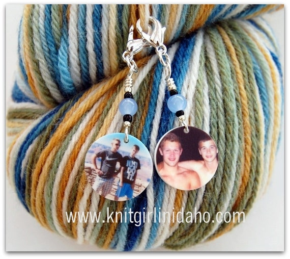Custom REMOVABLE Stitch Markers (Set of TWO)