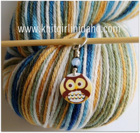 Whimsical Owl Stitch Marker (Qty 1)