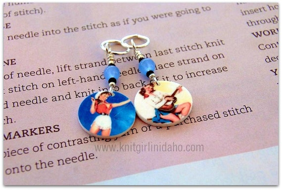 Cowgirl Stitch Markers (Set of 2)