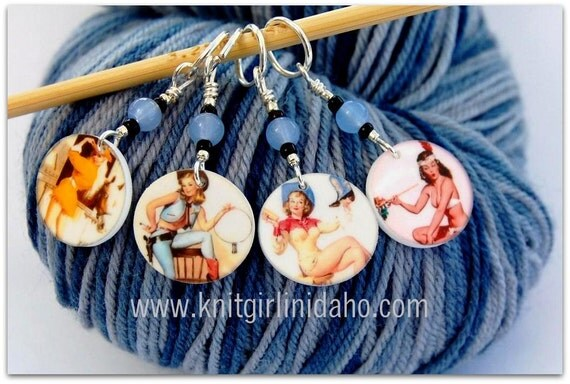 Sassy Cowgirl Charm Stitch Markers (Set of 4)