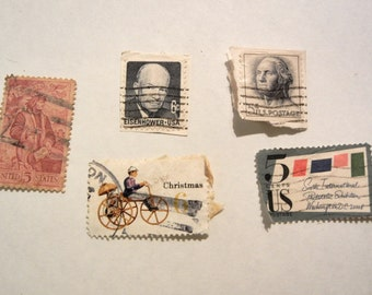 Vintage US Postage 5 & 6 cent stamps FREE Shipping US only