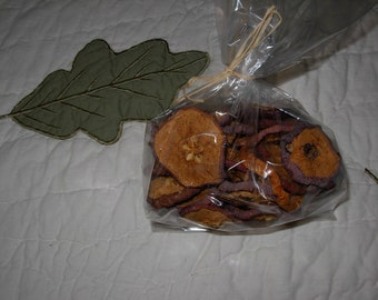 4 ounce Dried Apple Slices in bag Autumn Fall Wreath Garland Craft Apples