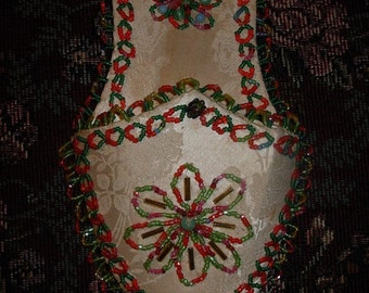 Very Ethnic and Vintage Beaded Shoe for Middle Eastern or Bohemian Decor