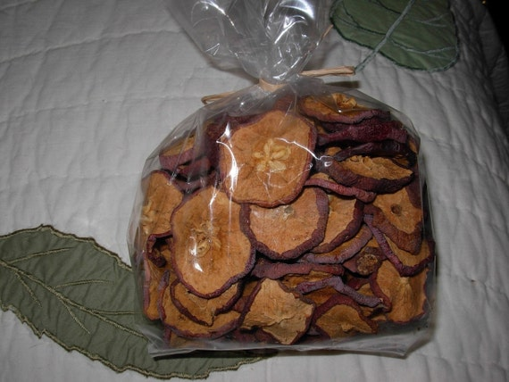 Dried Apple Slices in bag, 8 ounces, Autumn Fall Wreath Garland Craft Apples