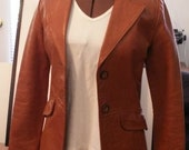 Ladies' Sunrise Leather Co. lined jacket\/blazer XS