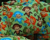Boutique Shopping Cart Cover TWIN  (Urban Monkey Green) Shopping Cart Cover-BOY or GIRL - Comes with belt and pillow