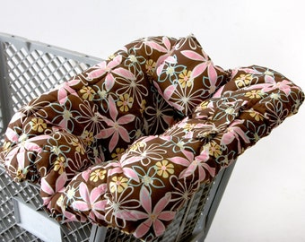 Ready 2 Ship- Shopping Cart Cover Custom Boutique (Daisy Dream) Shopping Cart Cover for a Girl- comes with safety belt and matching pillow