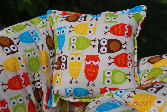 TWIN  Shopping Cart Cover - Custom Boutique Shopping Cart Cover- Bermuda Owl- for B/B or B/G Twins - Unisex