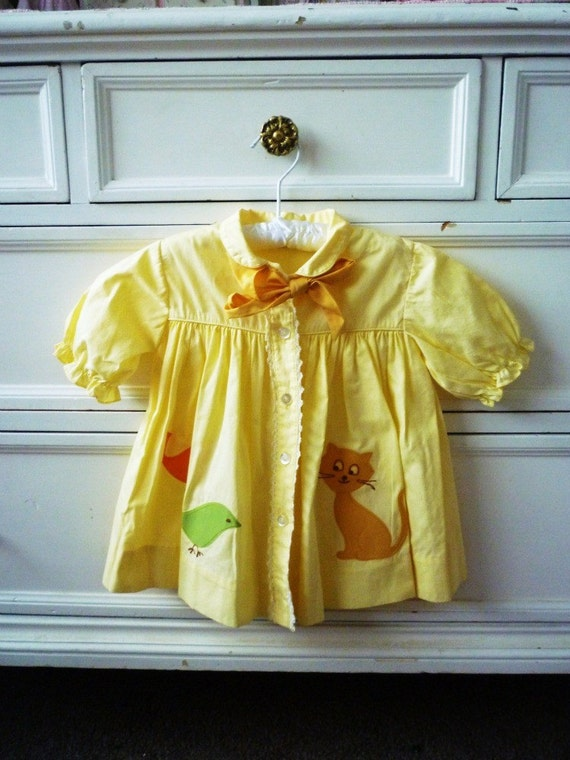 Vintage Painter's Smock Top, Size 24 Months