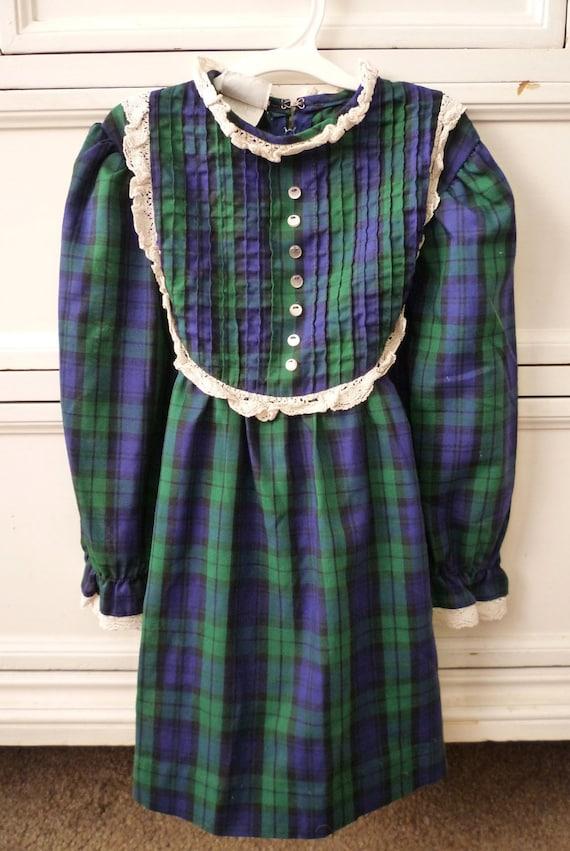 Vintage Kate Greenaway Schoolgirl Dress, Size 5