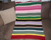FREE Shipping- Striped Multi Colored Throw