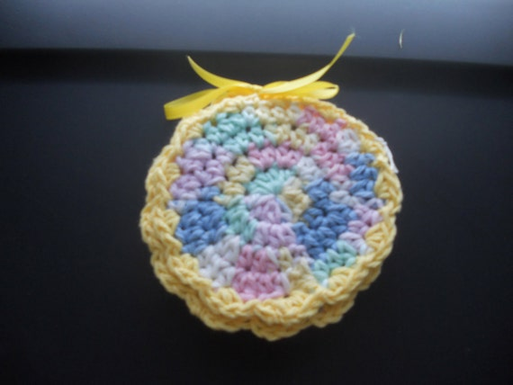 Free Shipping - Pretty Pastel Colored Crocheted Coasters