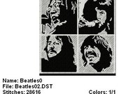 The Beatles Embroidery Designs