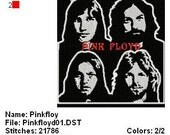 Pink floyd Band Embroidery Designs