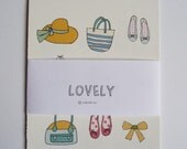 Fashion for girls - cards - shoes, bags, swimming suits