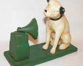 Victor Antique Phonograph Victrola Nipper Dog Cast Iron Bank Fathers Day Gift