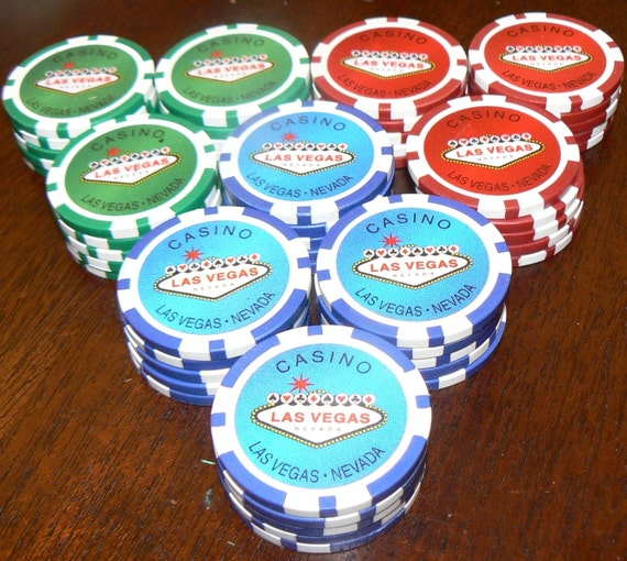 Dad's poker chips