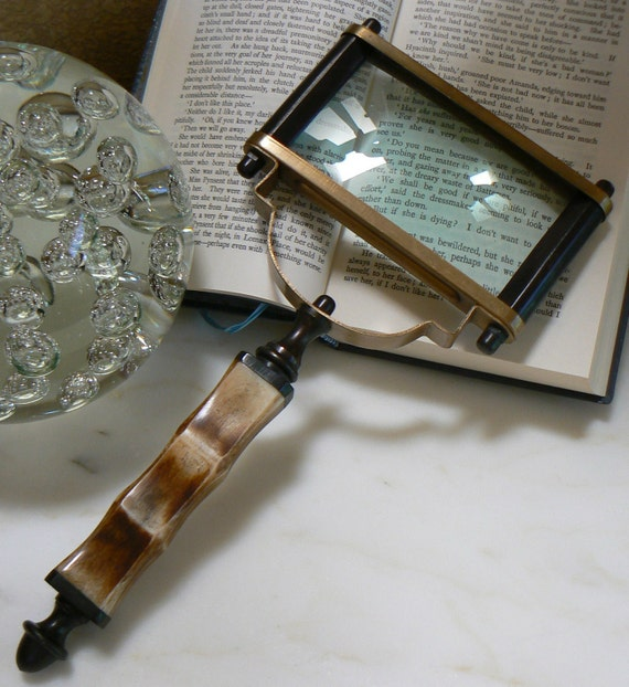Vintage Magnifying Looking Glass with Handsome Ornate Handle