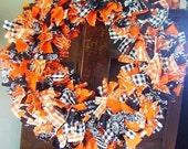 Western Halloween Rag Wreath