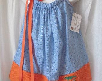 Custom Go Gators Girl's Orange and Blue Pillowcase Dress Sizes 6-24 Months to a Girl's Size 5