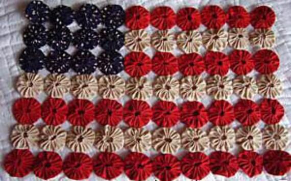 Americana Primitive Patriiot Yo Yo Flag Kit , Learn to make yo yos.