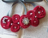 I See Red Roses Bib Necklace