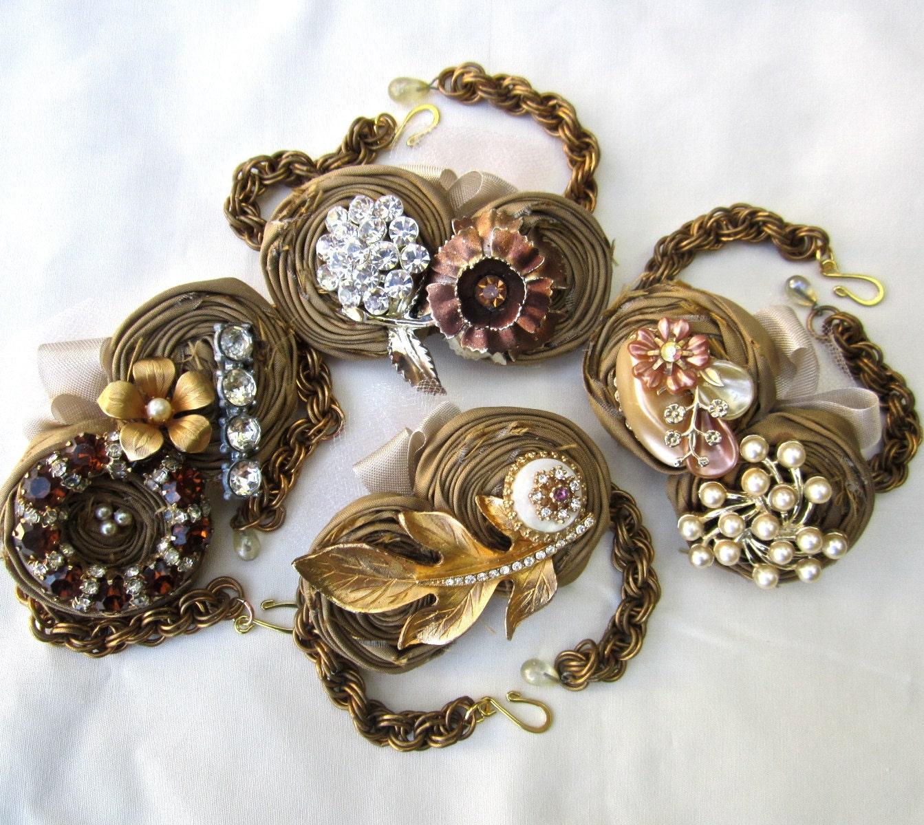 wrist corsage bridesmaid bracelets for weddings bridesmaid