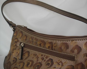 Cheetah handpainted leather purse