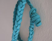 Braided Leather Double Wrap Bracelet - More Colors Available