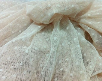 Fat Quarter Ivory Dot Lace fabric 1/4 mtr.