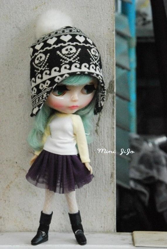 Neo Blythe Simply Skirt Dark Violet
