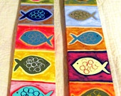 Beach Time Custom Fish Painting - Modern Folk Art -Choose your Colors M