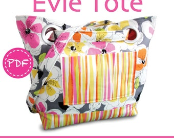 PDF Evie Tote Bag Purse SEWING PATTERN