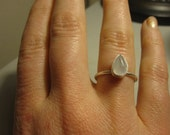 Stacking ring in Moonstone and Sterling Silver