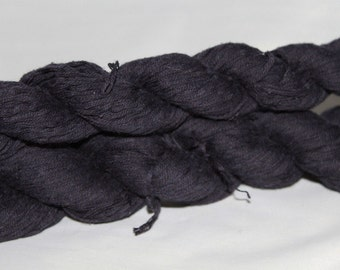 30% off STORE CLOSING SALE Upcycled Navy Blue Cotton Yarn, Sport Yarn - 260 Yards