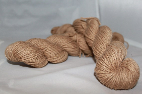20% OFF SALE Brown Merino Wool Cashmere Blend Recycled Yarn, Worsted Weight Yarn - 224 Yards
