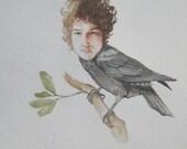 Bob Dylan as a crow