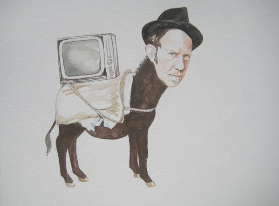 Tom Waits as a donkey hauling a Television in Istanbul