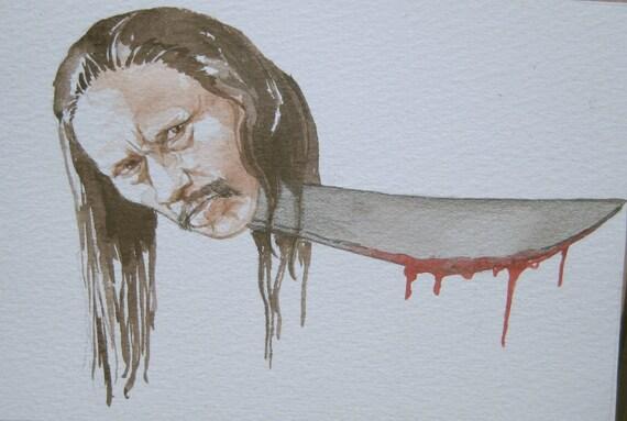Danny Trejo as a bloody machete