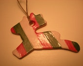 christmas colors reindeer ornament