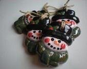 SALE snowmen ornaments