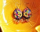 Reserved for Mahua - Peacock Earrings