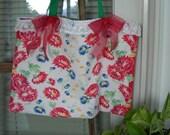 Flower Power market tote bag from repurposed vintage