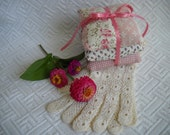 3 pretty pink sachet pillows of French lavender and TN mint