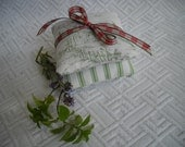 French lavender and Tennessee Mint in a set of green sachets - Reserved